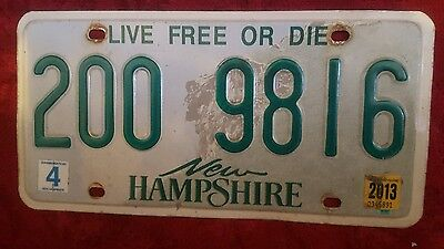 Authentic  New Hampshire Old Man Ofthe Mountain Graphic Licenseplate Nh#200 9816