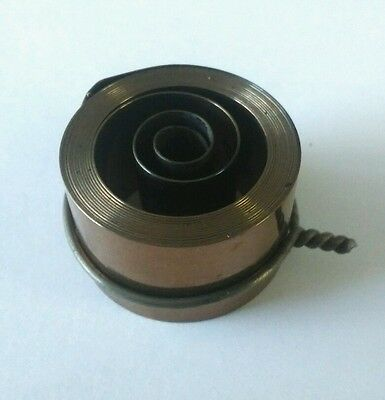 French & German Hole End Clock Mainspring Height 24 Force 0.40 Diameter 40