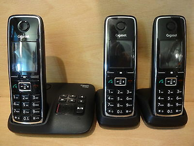 Gigaset C530A Triple Cordless Telephone House Phone & Answer Machine -BX