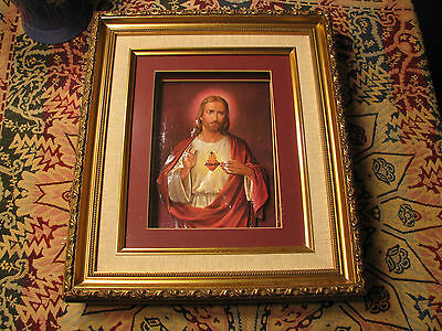 Framed Shadow Box Jesus Picture
