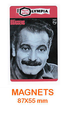 GEORGES BRASSENS   magnet / aimant   5,5 cm x 8,7 cm   L'OLYMPIA