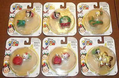Set of 6 Disney Holiday Stackable Vinyl Tsum Tsum  LIMITED EDITION Figures HTF