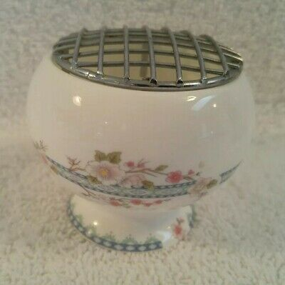 "Vintage Coalport England Fine Bone China Flower Frog 2 1/4"" tall"