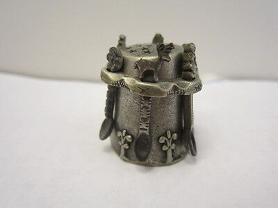 Pewter Spoon Thimble  By  Nicholas Gish - Signed