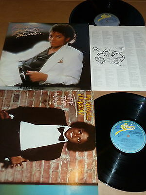LOT OF 2 RARE MICHAEL JACKSON EPIC LPs - OFF THE WALL / THRILLER