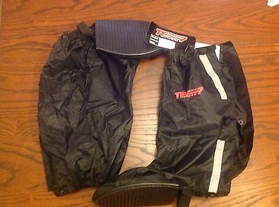 Tech-7 Waterproof Motorcycle Over Boots Reflective Bands Size L