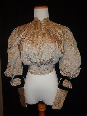 "Antique Early 1900's Silk Blouse Pigeon Front  ""AS IS"""