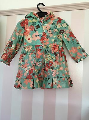 Girls Marks And Spencer Autograph Lined Rain Coat Age 2-3