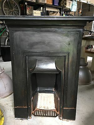 Black iron Victorian fireplace vintage reclaimed salvage