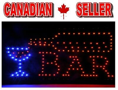 BAR IS OPEN Have a Drink 80 BRIGHT LED Animated SIGNS for Sale on/off motion