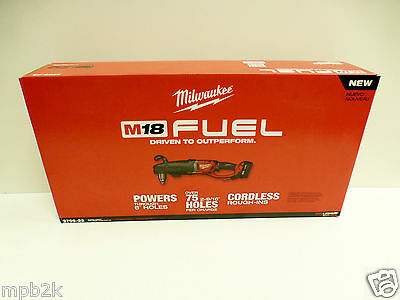 "Milwaukee 2709-22 Super Hawg 1/2"" Right Angle Drill Brushless Tool Kit Free Ship"