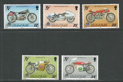 Isle of Man 1987 Tourist Trophy 80th--Attractive Sports Topical (335-39) MNH