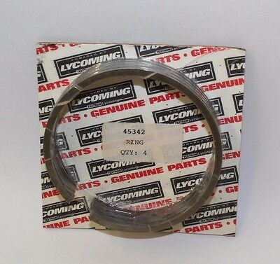 New Lycoming O145 Piston Oil Rings, Set of 4, PN 45342
