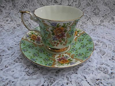 """Crown Ford Queens china """" Blenheim """" tea cup with saucer"""