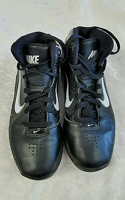 Nike Air Max Women's  Basketball Shoes Black with White Swoosh  Size 7