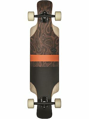Globe Burle-Black Geminon Kick - 37.5 Inches Drop Through Longboard Complete