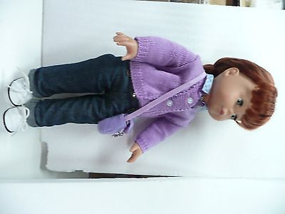 "Pottery Barn Gotz Doll Megan RED HAIR 18""  NEARLY NEW"