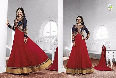 Pakistani & Indian Anarkali Dress For Wedding Party EID-Georgette Semi-Stitched