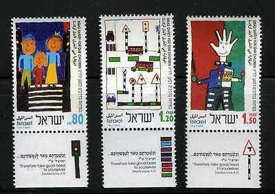 Israel 1993 Road Safety for our Children.  Sc. 1167 - 1169 MNH with tab (AI_35)