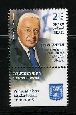 2015 Ariel Sharon, 11th Prime Minister of the State of Israel MNH Tab (AI_71)