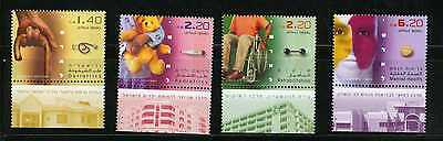 ISRAEL 2005 Medicine in Israel  Sc.1611 - 1614 MNH With tabs (AI_45)