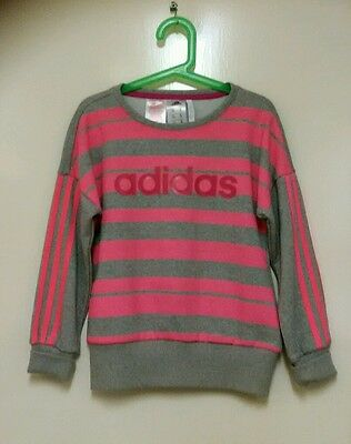 girls adidas tracksuit top age 7/8