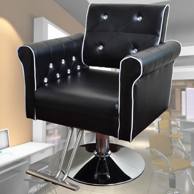Salon Furniture Black Hydraulic Soft Barber Chair for Tattoo Hairdressing Beauty