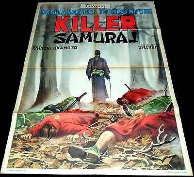 1965 Killer Samurai ORIGINAL Italian 2f POSTER Sword of Doom Toshiro Mifune