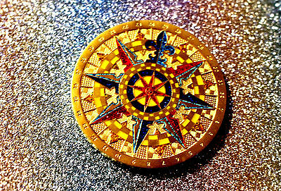 2007 LE Compass Rose Geocoin, Trackable, Activated and Adoptable