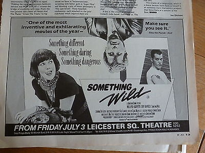 Something Wild - Melanie Griffith   - Released 1986 - Half Page Magazine Ad