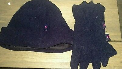 First bus hat and gloves