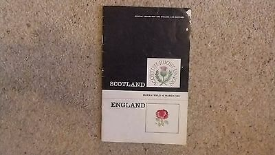 Scotland V England Rugby Union Programme 1968