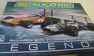 Scalextric C3589A MCLAREN M7C VS BRABHAM BT26  TWIN PACK MINT BOXED LIMITED 3000