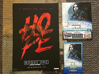 Rogue One Star Wars Limited Edition HOPE Poster EL CAPITAN Theater RARE #230
