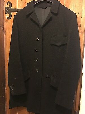 """Men's black hunting coat / jacket 42"""" with hunt buttons"""