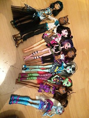 Monster High Bundle,Dolls,Clothes,Bed,Accessories,Shoes