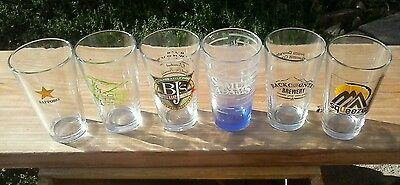 Cool set of six different beer pint glasses. #1