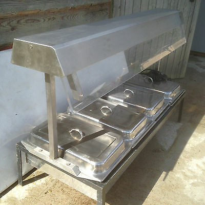 stainless steel servery for outside catering