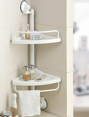 Corner Shelf Kitchen and Bathroom Easy Install Wall Suction