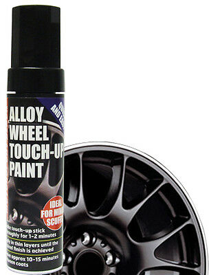 Black E-Tech Wheel Touch Up Paint Stick-Car Alloy Repair Chipped Fast Dispatch