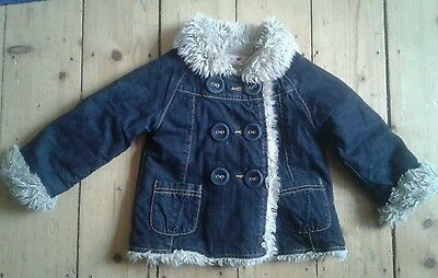 Girls M&S gorgeous winter coat size age 2-3 years
