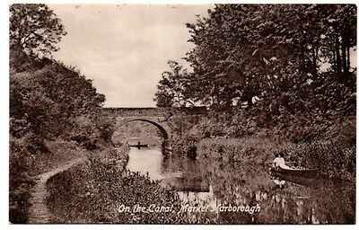2 Postcards of the Canal in Market Harborough.  Postmarked 1912 & 1910.