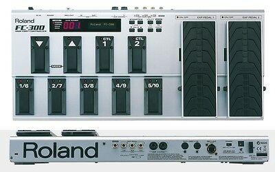 Roland Fc-300 Midi Foot Controller Pedal 200 & Power Supply