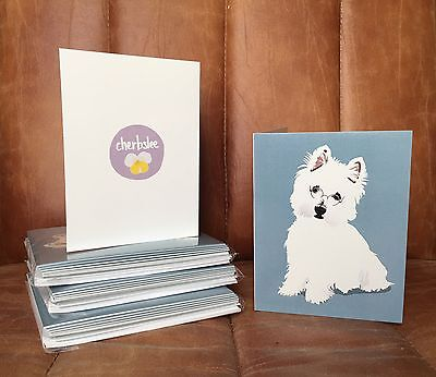 Pack of 5 doctor magic the westie blank greeting cards with pack of 10 doctor magic the westie blank greeting cards with white envelopes m4hsunfo