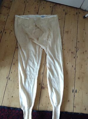 Vtg Mens Guardian Wool Underpants 3 Button Front Long Johns Underwear 40""
