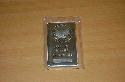 Silver bullion bar 10oz Sunshine Minting .999 sealed and in good condition