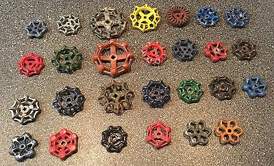 27 Vintage Antique Water Faucet Knob/valve Handles Steampunk Industrial Art