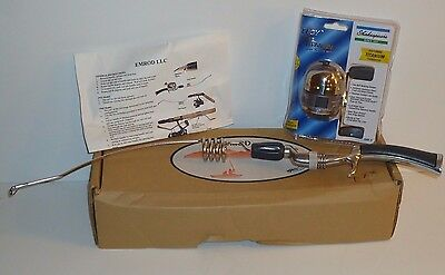 New Emmrod Black & Silver 4 Coil Casting Pole Fishing Rod & New Synergy Reel MIB