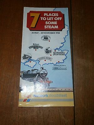 British Rail Network SouthEast 7 Places To Let Off Steam leaflet 1988