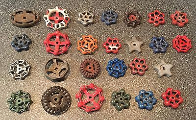 26 Vintage Antique Water Faucet Knob/valve Handles Steampunk Industrial Art